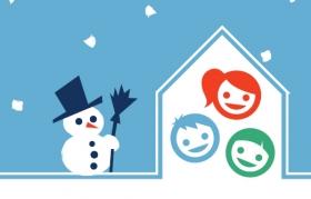 Winterspielplatz für Kinder von 2 bis 5 Jahren