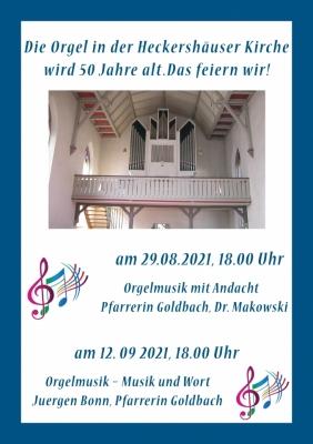 50 Jahre Orgel in Heckershausen
