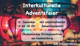 Interkulturelle Adventsfeier am Kammerberg