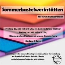 Sommerbastelwerkstatt für Grundschüler*innen