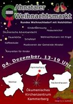 Ahnataler Weihnachtsmarkt am 04.12.16 von 13 bis 19 Uhr.